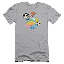 Powerpuff Girls - Mens Spiral Streaks Slim Fit T-Shirt