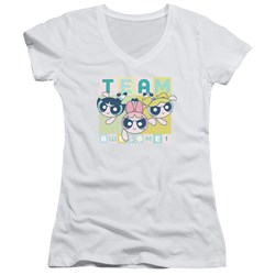 Powerpuff Girls - Juniors Awesome Block V-Neck T-Shirt