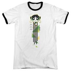 Powerpuff Girls - Mens Buttercup Streak Ringer T-Shirt