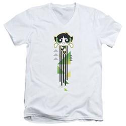 Powerpuff Girls - Mens Buttercup Streak V-Neck T-Shirt