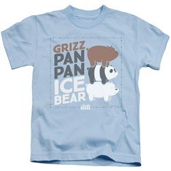 We Bare Bears - Youth Grizz Pan Pan Ice Bear T-Shirt