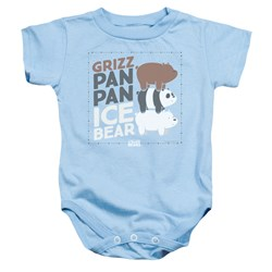 We Bare Bears - Toddler Grizz Pan Pan Ice Bear Onesie