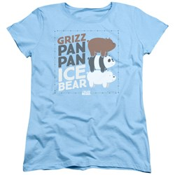We Bare Bears - Womens Grizz Pan Pan Ice Bear T-Shirt