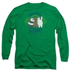We Bare Bears - Mens Bears Win Long Sleeve T-Shirt