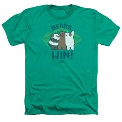 We Bare Bears - Mens Bears Win Heather T-Shirt