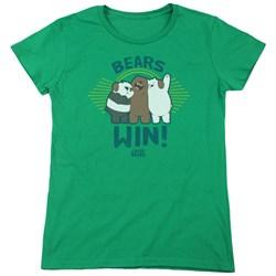We Bare Bears - Womens Bears Win T-Shirt