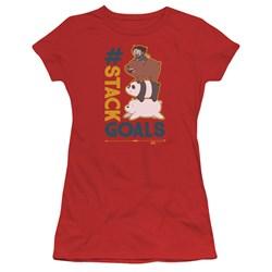 We Bare Bears - Juniors Stack Goals T-Shirt