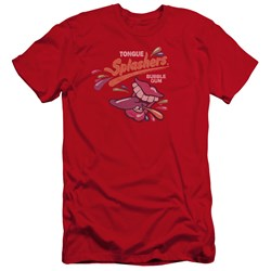Dubble Bubble - Mens Distress Logo Premium Slim Fit T-Shirt