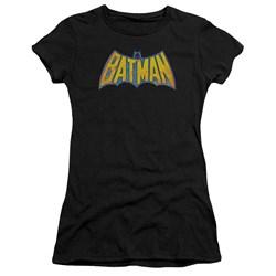 Dco - Juniors Batman Neon Distress Logo Premium Bella T-Shirt