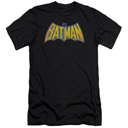 Dco - Mens Batman Neon Distress Logo Premium Slim Fit T-Shirt