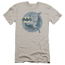 Dco - Mens Retro Batman Iron On Premium Slim Fit T-Shirt