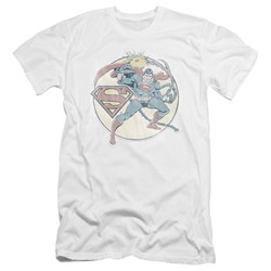 Dco - Mens Retro Superman Iron On Premium Slim Fit T-Shirt