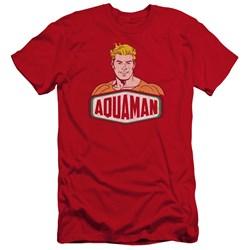 Dco - Mens Aquaman Sign Premium Slim Fit T-Shirt