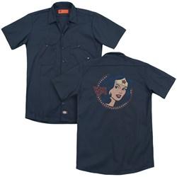Dc - Mens Ww75 Starburst Portrait (Back Print) Work Shirt