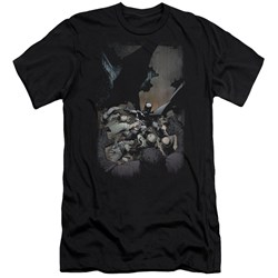 Batman - Mens Batman #1 Premium Slim Fit T-Shirt