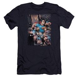 Superman - Mens Action Comics #1 Premium Slim Fit T-Shirt