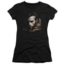 Dean - Juniors Brown Leather Premium Bella T-Shirt