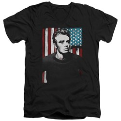 James Dean - Mens Painted Icon V-Neck T-Shirt