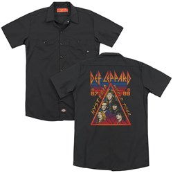 Def Leppard - Mens Hysteria Tour (Back Print) Work Shirt