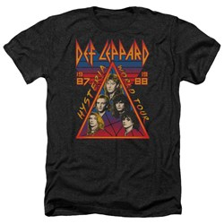 Def Leppard - Mens Hysteria Tour Heather T-Shirt