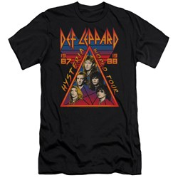 Def Leppard - Mens Hysteria Tour Premium Slim Fit T-Shirt
