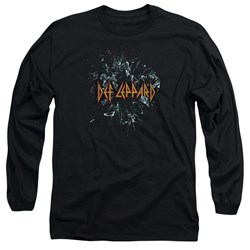 Def Leppard - Mens Broken Glass Long Sleeve T-Shirt