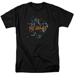 Def Leppard - Mens Broken Glass T-Shirt