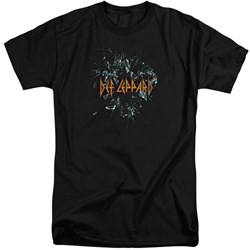 Def Leppard - Mens Broken Glass Tall T-Shirt
