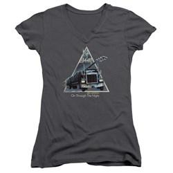 Def Leppard - Juniors On Through The Night V-Neck T-Shirt