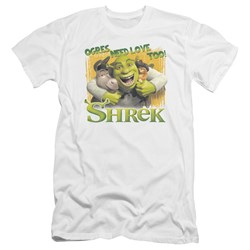 Shrek - Mens Ogres Need Love Premium Slim Fit T-Shirt