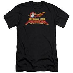 Kung Fu Panda - Mens Logo Premium Slim Fit T-Shirt