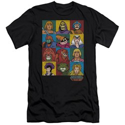 Masters Of The Universe - Mens Character Heads Premium Slim Fit T-Shirt