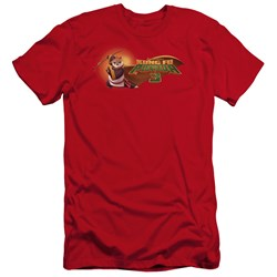 Kung Fu Panda - Mens Po Logo Premium Slim Fit T-Shirt