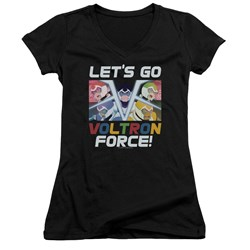 Voltron - Juniors Lets Go V-Neck T-Shirt