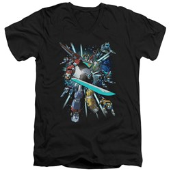 Voltron - Mens Lions Share V-Neck T-Shirt