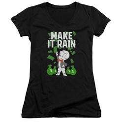 Richie Rich - Juniors Make It Rain V-Neck T-Shirt
