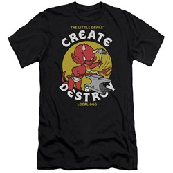 Hot Stuff - Mens Local Devils Slim Fit T-Shirt