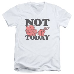 Hot Stuff - Mens Not Today V-Neck T-Shirt