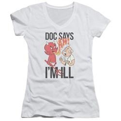 Hot Stuff - Juniors Doc Says V-Neck T-Shirt