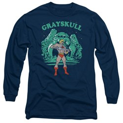 Masters Of The Universe - Mens Grayskull Nights Long Sleeve T-Shirt
