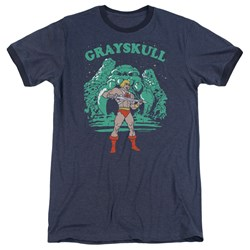 Masters Of The Universe - Mens Grayskull Nights Ringer T-Shirt
