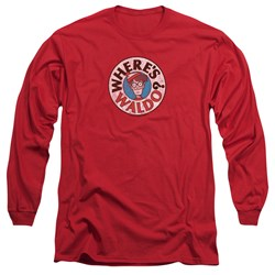 Wheres Waldo - Mens Waldo Logo Long Sleeve T-Shirt