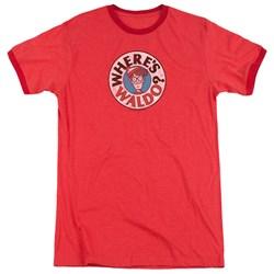 Wheres Waldo - Mens Waldo Logo Ringer T-Shirt