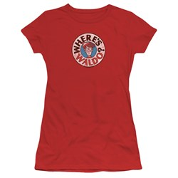 Wheres Waldo - Juniors Waldo Logo T-Shirt