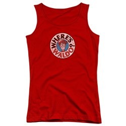 Wheres Waldo - Juniors Waldo Logo Tank Top