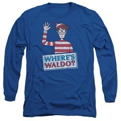 Wheres Waldo - Mens Waldo Wave Long Sleeve T-Shirt