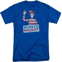 Wheres Waldo - Mens Waldo Wave Tall T-Shirt