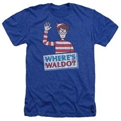 Wheres Waldo - Mens Waldo Wave Heather T-Shirt