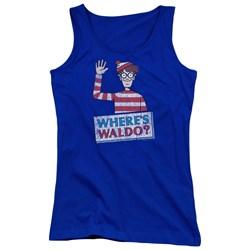 Wheres Waldo - Juniors Waldo Wave Tank Top