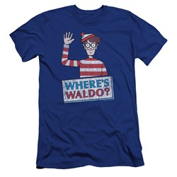 Wheres Waldo - Mens Waldo Wave Premium Slim Fit T-Shirt